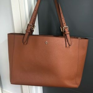 100% Authentic TORY BURCH Saffiano Leather Tote